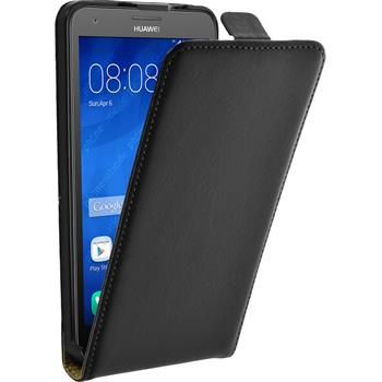 Artificial Leather Case for Huawei Honor 3X G750 Flipcase black