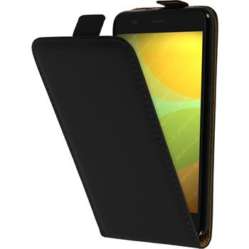 Artificial Leather Case for Huawei Honor 4A Flip-Case black