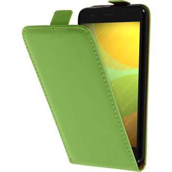 Artificial Leather Case for Huawei Honor 4A Flip-Case green