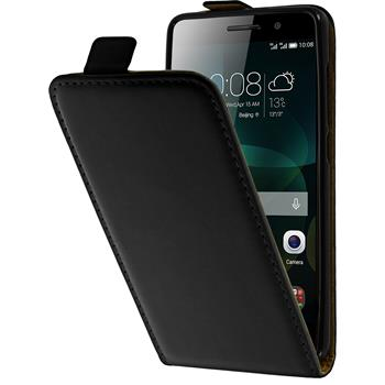 Artificial Leather Case for Huawei Honor 4c Flipcase black