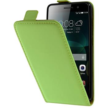 Artificial Leather Case for Huawei Honor 4c Flipcase green