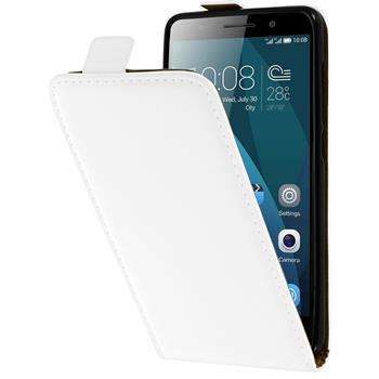 Artificial Leather Case for Huawei Honor 4x Flipcase white