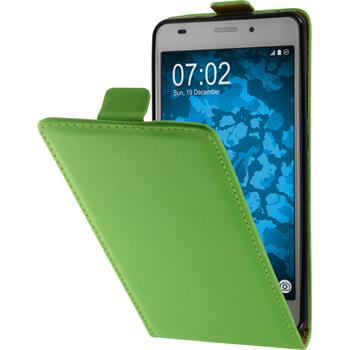 Artificial Leather Case for Huawei Honor 5C Flip-Case green + protective foils