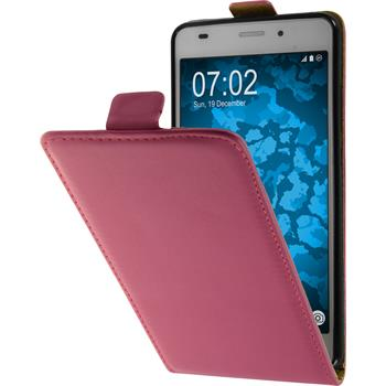 Artificial Leather Case for Huawei Honor 5C Flip-Case hot pink + protective foils