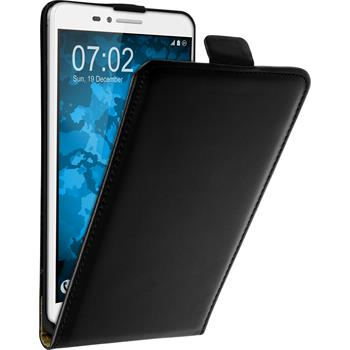 Artificial Leather Case for Huawei Honor 5X Flip-Case black + protective foils