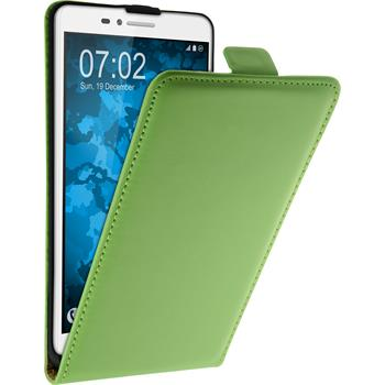 Artificial Leather Case for Huawei Honor 5X Flip-Case green + protective foils