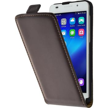 Artificial Leather Case for Huawei Honor 6 Flipcase brown