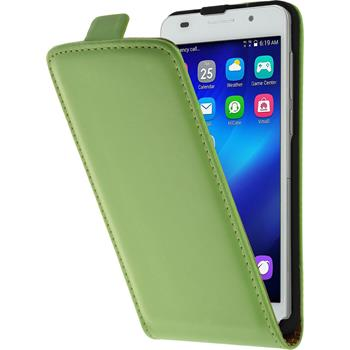 Artificial Leather Case for Huawei Honor 6 Flipcase green