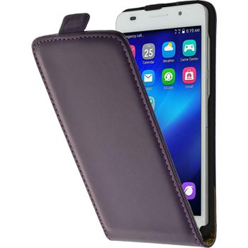 Artificial Leather Case for Huawei Honor 6 Flipcase purple
