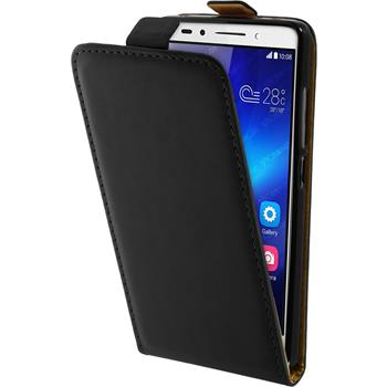 Artificial Leather Case for Huawei Honor 7 Flipcase black