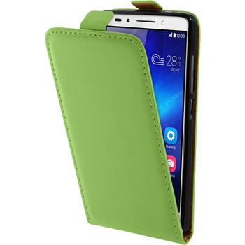 Artificial Leather Case for Huawei Honor 7 Flipcase green