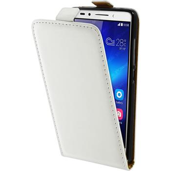 Artificial Leather Case for Huawei Honor 7 Flipcase white