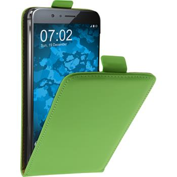 Artificial Leather Case for Huawei Honor 8 Flip-Case green + protective foils