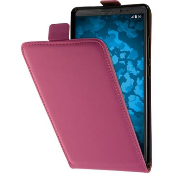 Artificial Leather Case for Huawei Mate 8 Flip-Case hot pink