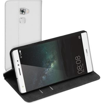 Artificial Leather Case for Huawei Mate S Bookstyle white
