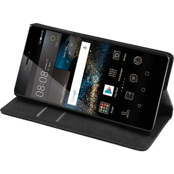Artificial Leather Case for Huawei P8 Bookstyle black