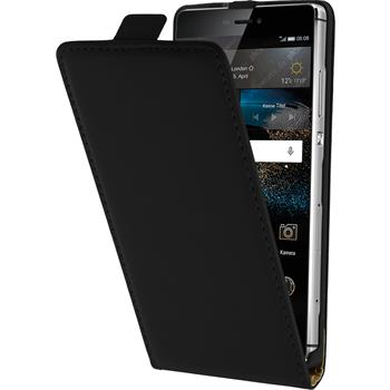Artificial Leather Case for Huawei P8 Flipcase black