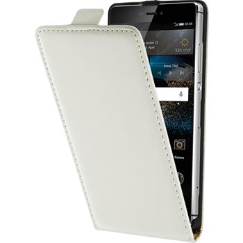 Artificial Leather Case for Huawei P8 Flipcase white