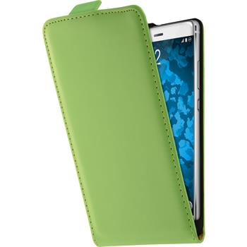 Artificial Leather Case for Huawei P9 Leather-Case green + protective foils