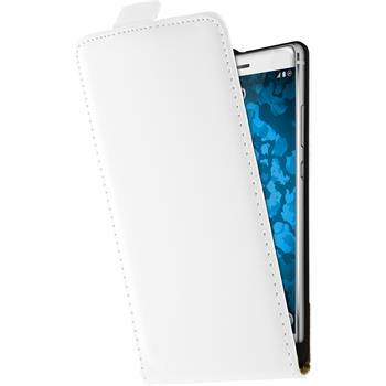 Artificial Leather Case for Huawei P9 Leather-Case white + protective foils