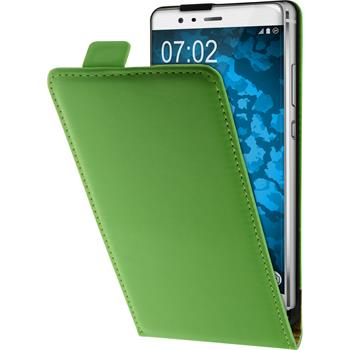 Artificial Leather Case for Huawei P9 Plus Flip-Case green + protective foils