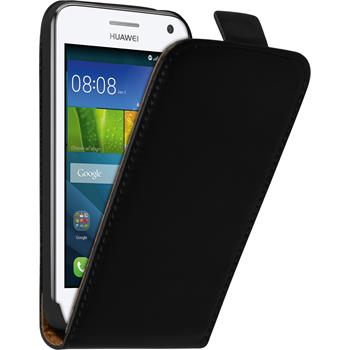 Artificial Leather Case for Huawei Y360 Flip-Case black