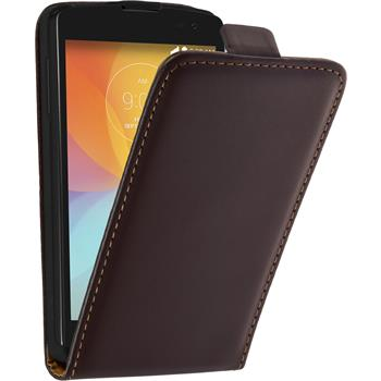 Artificial Leather Case for LG F60 Flipcase brown