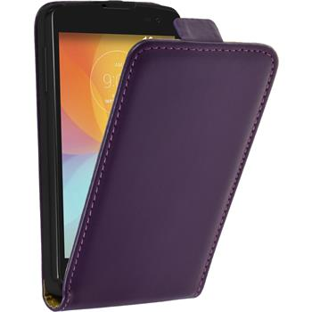 Artificial Leather Case for LG F60 Flipcase purple
