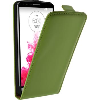 Artificial Leather Case for LG G3 Flipcase green