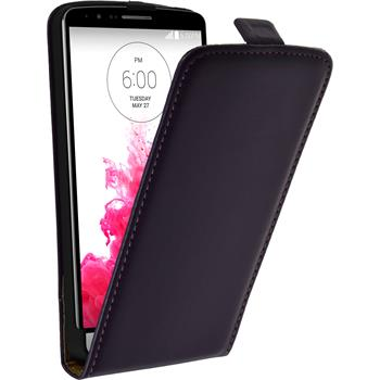 Artificial Leather Case for LG G3 Flipcase purple