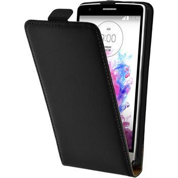 Artificial Leather Case for LG G3 S Flipcase black
