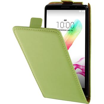 Artificial Leather Case for LG G4 Stylus Flipcase green