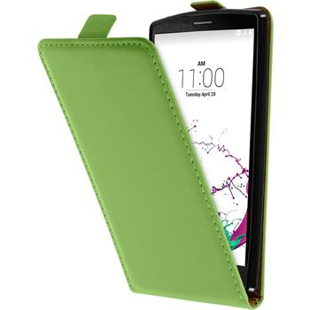Artificial Leather Case for LG G4s Flip-Case green