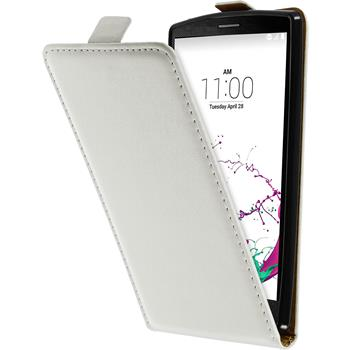 Artificial Leather Case for LG G4s Flip-Case white
