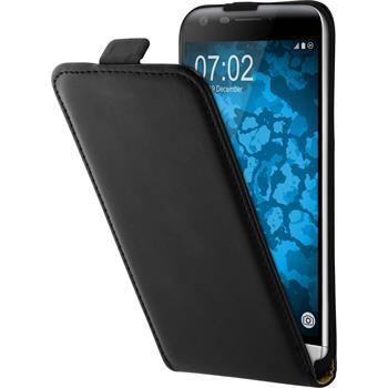 Artificial Leather Case for LG G5 Flip-Case black + protective foils
