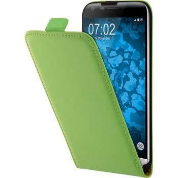 Artificial Leather Case for LG G5 Flip-Case green + protective foils