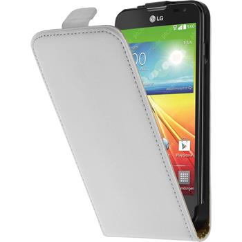 Artificial Leather Case for LG L90 Flipcase white