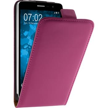 Artificial Leather Case for LG L Bello II Flip-Case hot pink