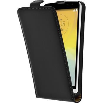 Artificial Leather Case for LG L Bello Flipcase black