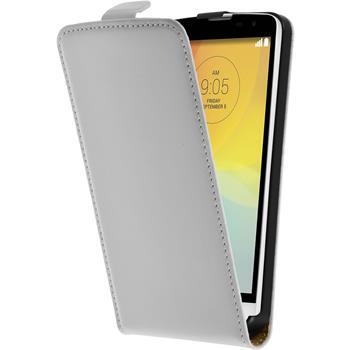 Artificial Leather Case for LG L Bello Flipcase white
