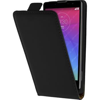 Artificial Leather Case for LG Spirit Flipcase black