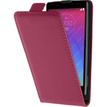 Artificial Leather Case for LG Spirit Flipcase hot pink