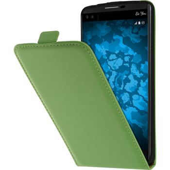 Artificial Leather Case for LG V10 Flip-Case green