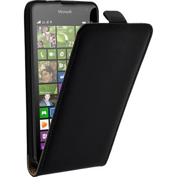 Artificial Leather Case for Microsoft Lumia 535 Flipcase black