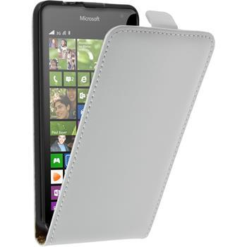 Artificial Leather Case for Microsoft Lumia 535 Flipcase white