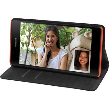 Artificial Leather Case for Microsoft Lumia 540 Dual Bookstyle black