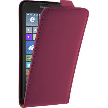 Artificial Leather Case for Microsoft Lumia 640 Flipcase hot pink