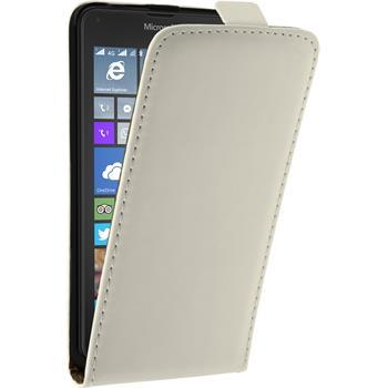 Artificial Leather Case for Microsoft Lumia 640 Flipcase white