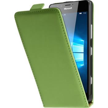 Artificial Leather Case for Microsoft Lumia 950 Flip-Case green