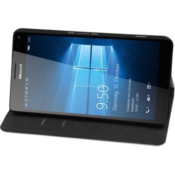 Artificial Leather Case for Microsoft Lumia 950 XL Bookstyle white